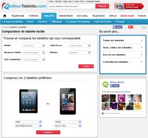 prix des tablettes tactiles