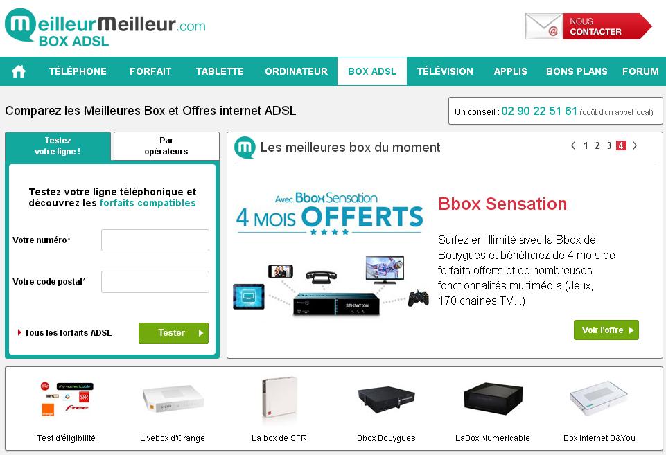 meilleur box internet comparateur de box internet adsl. Black Bedroom Furniture Sets. Home Design Ideas