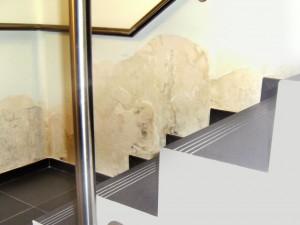 humidité sur les murs enterrés