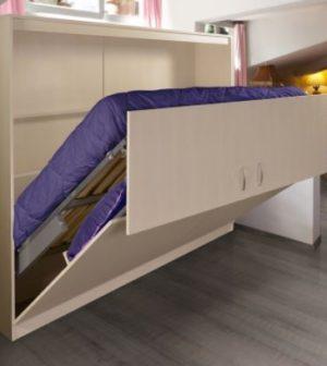 lit escamotable dans une maison