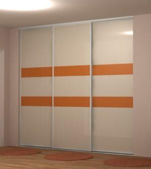 exemple de façade coulissante de placard avec 3 vantaux