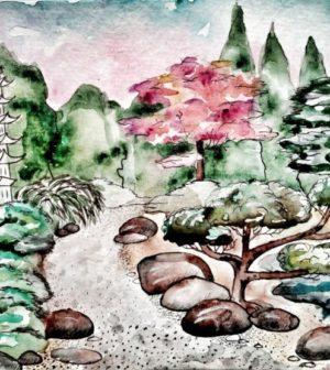 La création d'un jardin japonais