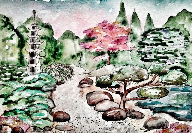 La cr ation d 39 un jardin japonais - Creation jardin japonais photos ...