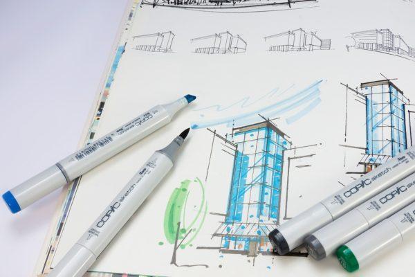 Plan d'architecte pour une boutique