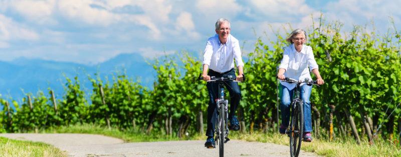 promenade à vélo le long des sentiers