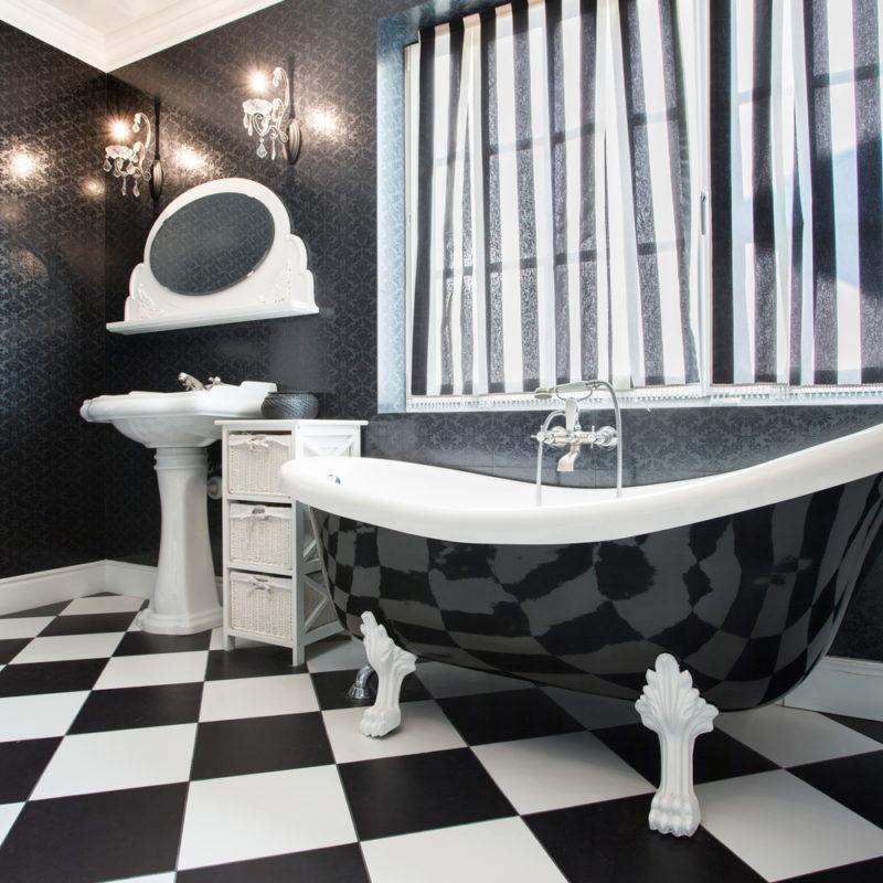 salle de bain retro et moderne